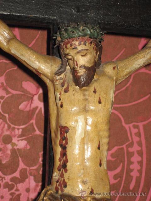 Arte: ESPECTACULAR TALLA - CRISTO CRUCIFICADO EN MADERA - SIGLO XVIII - - Foto 14 - 51884840