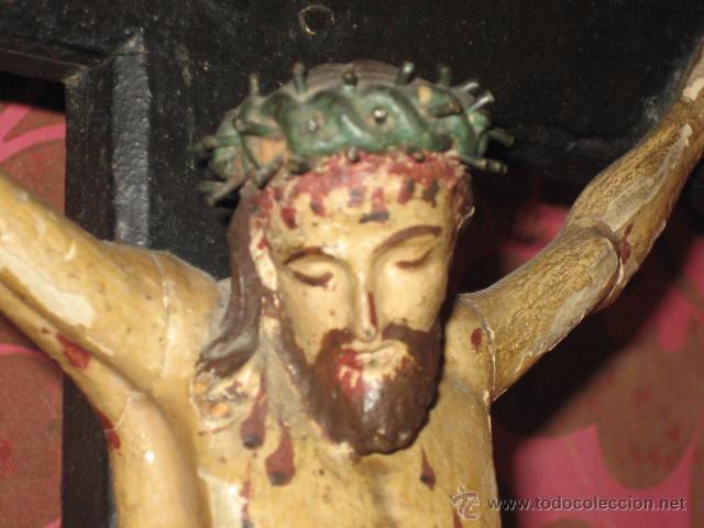 Arte: ESPECTACULAR TALLA - CRISTO CRUCIFICADO EN MADERA - SIGLO XVIII - - Foto 15 - 51884840