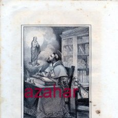 Arte: LITOGRAFIA DEL SIGLO XIX DE SAN PEDRO PASCUAL OBISPO,LOZANO LITº. LIT DE J.DONON, 160X210MM. Lote 51887879