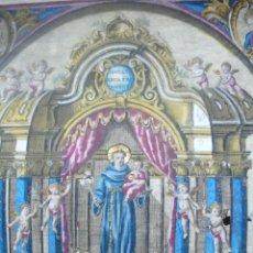 Arte: DISEÑO DEL ALTAR DE SN. ANTONIO DE PADUA, QUE SE VENERA EN SU CAPILLA DE LA IGLESIA DE .... Lote 52131737