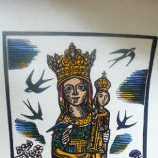 Arte: BOIX DE SANTA MARIA DE QUERALT ACOLORIDA A MÀ. 1967. . Lote 52134429