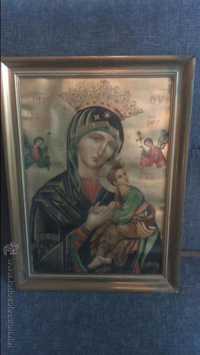 ANTIGUO CUADRO VIRGEN (Arte - Arte Religioso - Iconos)