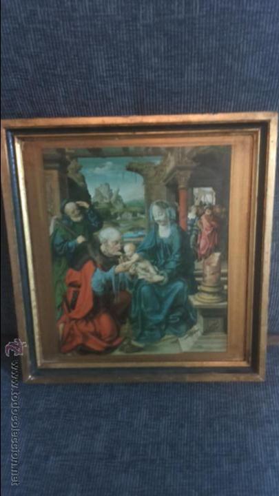 CUADRO SOBRE MADERA (Arte - Arte Religioso - Pintura Religiosa - Otros)
