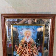 Arte: LA VIRGEN DE LA MACARENA CUADRO CON LAMINA ACRISTALADA. Lote 52311903