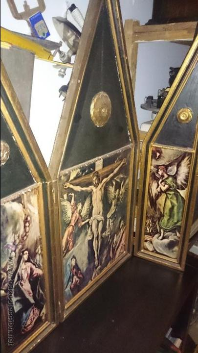 TRIPTICO CON LAMINAS GRAN TAMAÑO (Arte - Arte Religioso - Trípticos)