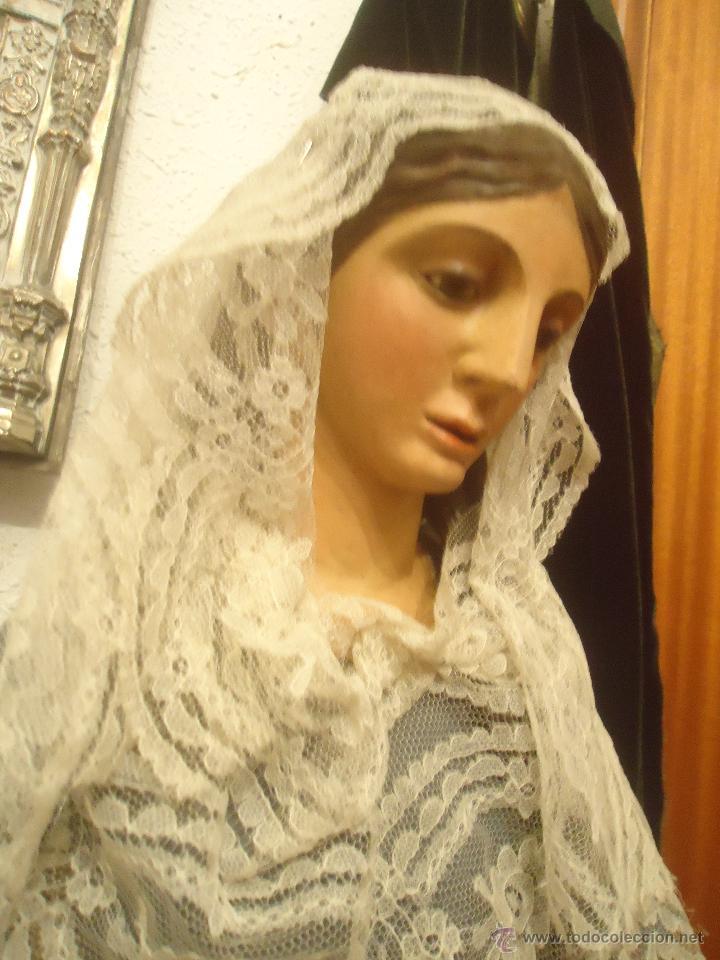 BUSTO DE VIRGEN DE GLORIA O DE MAGDALENA TALLA MADERA S. XIX (Arte - Arte Religioso - Escultura)