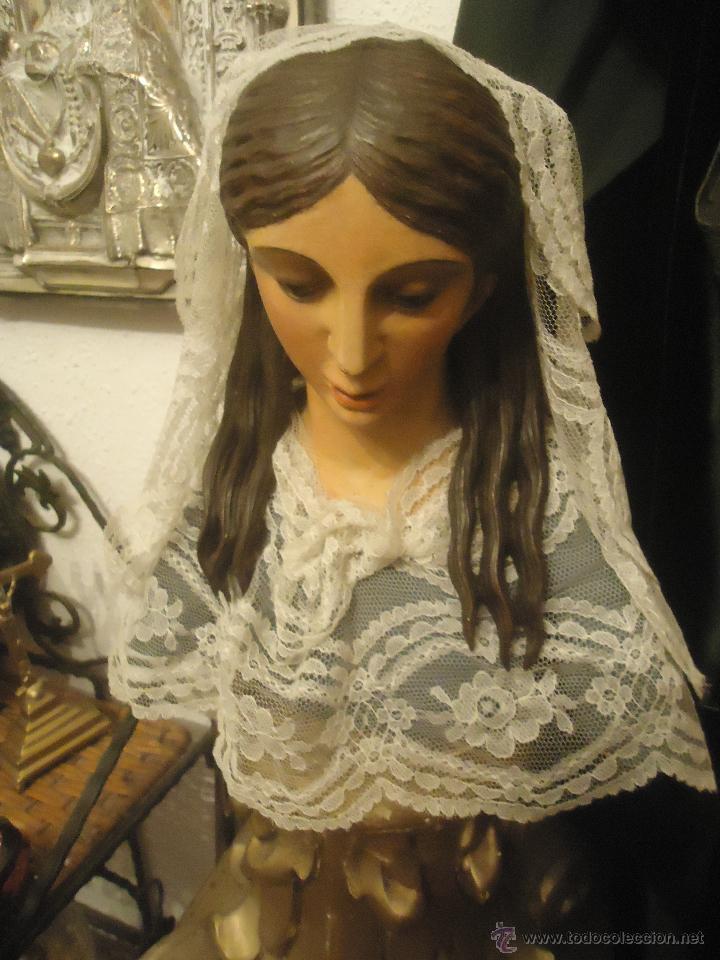 Arte: BUSTO DE VIRGEN DE GLORIA O DE MAGDALENA TALLA MADERA S. XIX - Foto 2 - 52461015