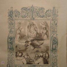 Arte: GRABADO RELIGIOSO DEL AÑO 1854 - 26X16,5 IMAGEN RELIGIOSA .- JUICIO FINAL , CRISTO . Lote 52466523