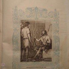 Arte: GRABADO RELIGIOSO DEL AÑO 1854 - 26X16,5 IMAGEN RELIGIOSA .- DECLARACION DEL MESIAS POR SAN JUAN . Lote 52466561