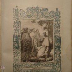Arte: GRABADO RELIGIOSO DEL AÑO 1854 - 26X16,5 IMAGEN RELIGIOSA .- CRISTO - SUBIMOS A JERUSALEN. Lote 52466650
