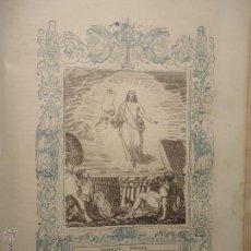 Arte: GRABADO RELIGIOSO DEL AÑO 1854 - 26X16,5 IMAGEN RELIGIOSA - CRISTO DE RESURRECCION , CRISTO RESUCITO. Lote 52467145