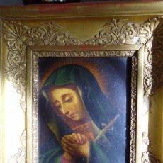 Arte: OLEO S/COBRE - S.XVIII - MARCO SOBREDORADO AL ORO FINO CON RELIEVE. Lote 52502172