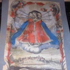 Arte: SANCTA MARIA DOLOROSA AUXILIATRIX ELCHINGENSIS - S.XVIII COLOREADA DE EPOCA ,VER FOTGR. DESPERFECTOS. Lote 52581846