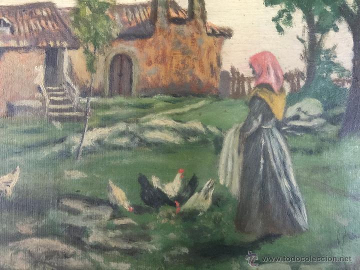 Arte: pintura al oleo de brunet y casas de 1914 - Foto 2 - 52584846
