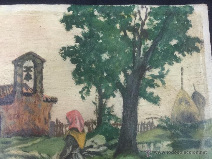 Arte: pintura al oleo de brunet y casas de 1914 - Foto 4 - 52584846