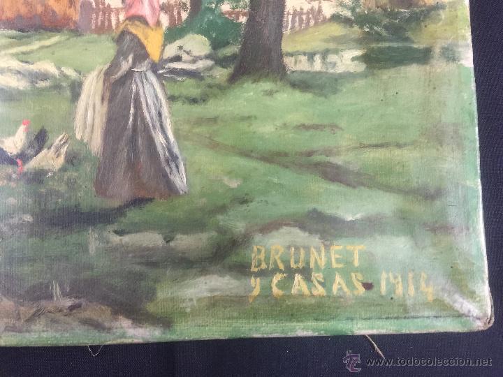 Arte: pintura al oleo de brunet y casas de 1914 - Foto 5 - 52584846