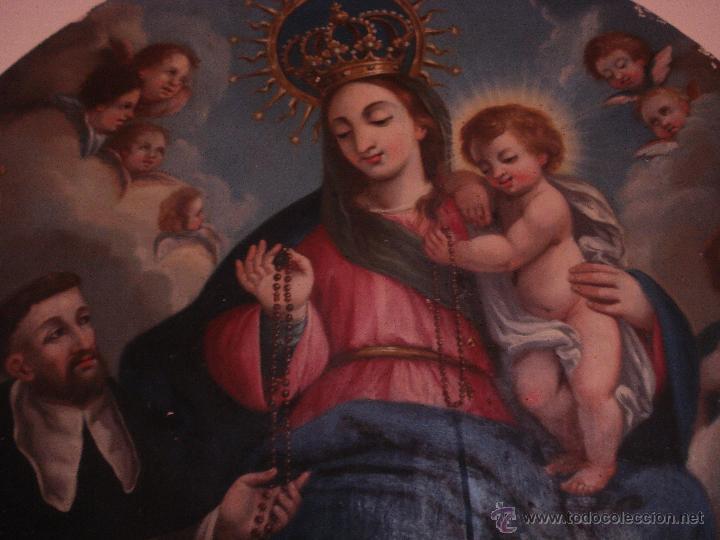S.XVIII DIEGO DEL VALLE 1788 EXCEPCIONAL RETABLO DE LA APARICIÓN DE LA VIRGEN DEL ROSARIO (Arte - Arte Religioso - Pintura Religiosa - Oleo)