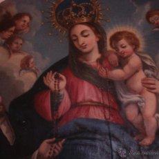 Arte: S.XVIII DIEGO DEL VALLE 1788 LMPRESIONANTE RETABLO APARICIÓN DE LA SANTÍSIMA VIRGEN DEL ROSARIO. Lote 52633548