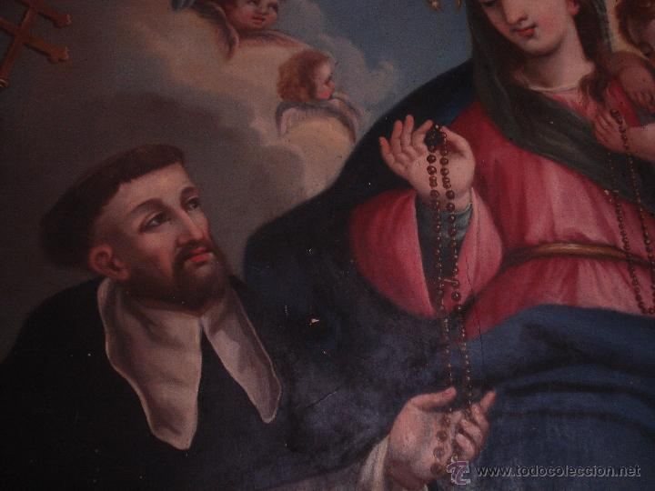 Arte: S.XVIII DIEGO DEL VALLE 1788 EXCEPCIONAL RETABLO DE LA APARICIÓN DE LA VIRGEN DEL ROSARIO - Foto 5 - 52633548