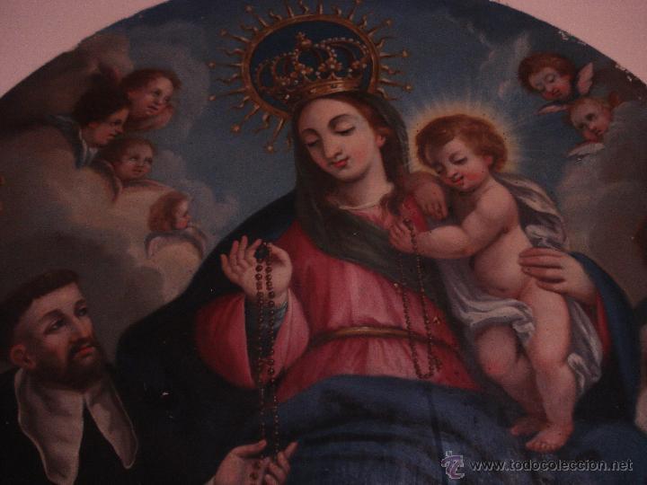 Arte: S.XVIII DIEGO DEL VALLE 1788 EXCEPCIONAL RETABLO DE LA APARICIÓN DE LA VIRGEN DEL ROSARIO - Foto 7 - 52633548