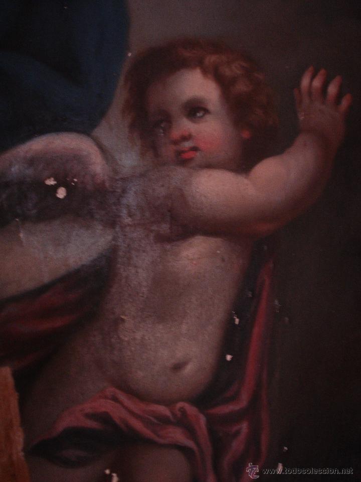 Arte: S.XVIII DIEGO DEL VALLE 1788 EXCEPCIONAL RETABLO DE LA APARICIÓN DE LA VIRGEN DEL ROSARIO - Foto 11 - 52633548