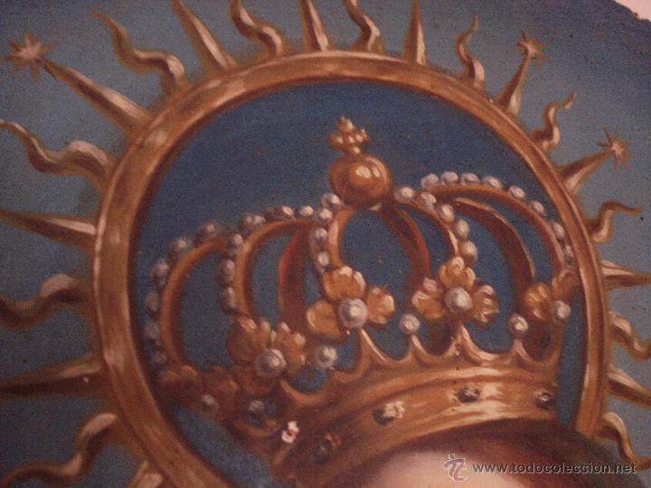 Arte: S.XVIII DIEGO DEL VALLE 1788 EXCEPCIONAL RETABLO DE LA APARICIÓN DE LA VIRGEN DEL ROSARIO - Foto 12 - 52633548