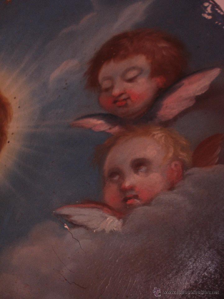 Arte: S.XVIII DIEGO DEL VALLE 1788 EXCEPCIONAL RETABLO DE LA APARICIÓN DE LA VIRGEN DEL ROSARIO - Foto 16 - 52633548
