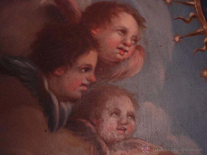 Arte: S.XVIII DIEGO DEL VALLE 1788 EXCEPCIONAL RETABLO DE LA APARICIÓN DE LA VIRGEN DEL ROSARIO - Foto 19 - 52633548