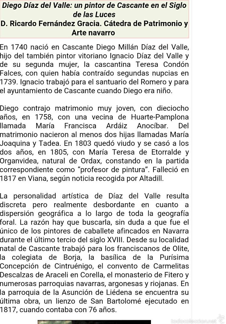 Arte: S.XVIII DIEGO DEL VALLE 1788 EXCEPCIONAL RETABLO DE LA APARICIÓN DE LA VIRGEN DEL ROSARIO - Foto 22 - 52633548