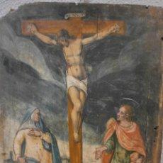 Arte: ANTIGUO RETABLO - PINTURA AL ÓLEO -SOBRE TABLA DE MADERA DE PINO - SIGLO XVII. Lote 52655560