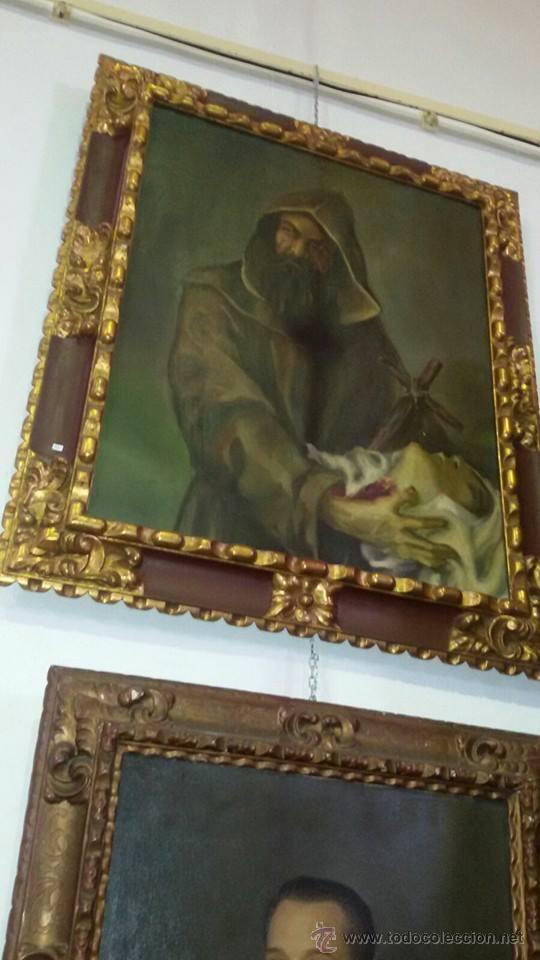 CUADRO MONJE (Arte - Arte Religioso - Pintura Religiosa - Oleo)