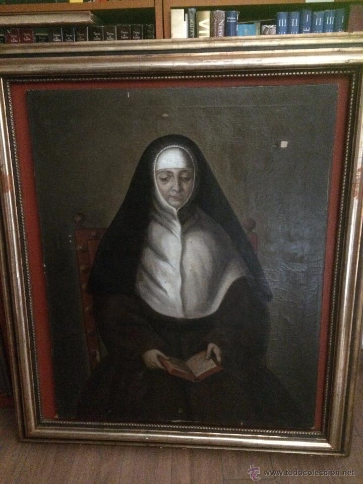 IMPRESIONANTE RETRATO DE ABADESA, S.XVII (Arte - Arte Religioso - Pintura Religiosa - Oleo)