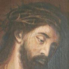 Arte: ANTIGUO ÓLEO RELIGIOSO SOBRE TELA, REPRESENTADO ECCE HOMO. Lote 52918042