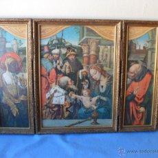 Arte: TRIPTICO EN MADERA,ADORACION DE LOS REYES MAGOS,AÑOS 60,MIDE 35X25X5 CM. Lote 52923515