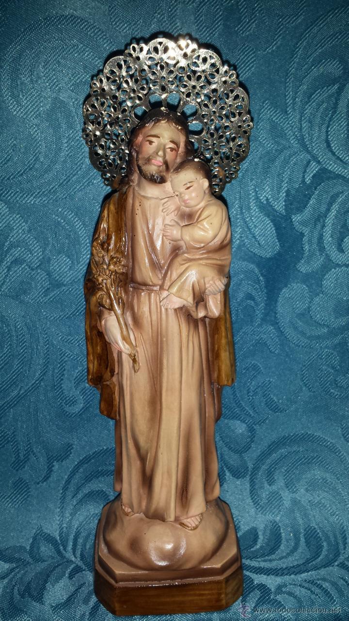 FIGURA DE SAN JOSÉ EN ESTUCO (Arte - Arte Religioso - Escultura)