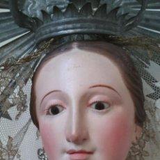 Arte: TALLA MADERA VIRGEN DEL CARMEN CAP I POTA SIGLO XIX 88 CM DE ALTURA. Lote 55375744