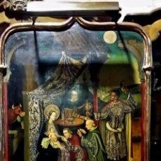 Arte: OLEO SOBRE TABLA,DE INSPIRACION GOTICO FLAMENCO,ADORACION DE LOS REYES MAGOS,PP DEL SIGLO XX. Lote 53114191
