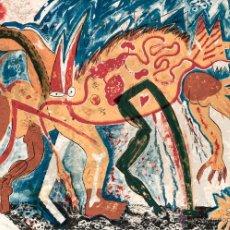 Arte: MIQUEL BARCELÓ (FELANITX, MALLORCA, 1957) ANIMAL AMB TRES PIXERADES. LITOGRAFÍA NUMERADA Y FIRMADA.. Lote 53172189