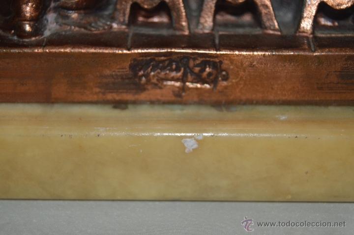 Arte: ANTIGUA TALLA DE LA SANTA CENA EN BRONCE con soporte de marmol pfs - Foto 12 - 53335721