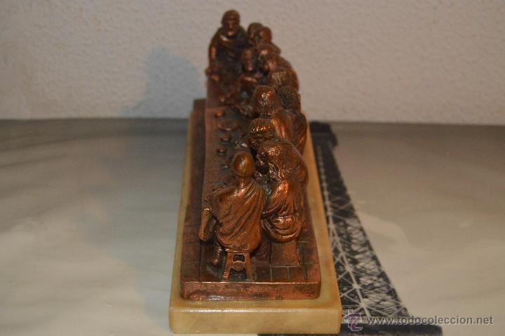 Arte: ANTIGUA TALLA DE LA SANTA CENA EN BRONCE con soporte de marmol pfs - Foto 13 - 53335721