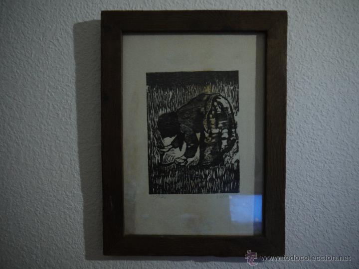 ANTONIO VALDIVIESO(1918-2000) LITOGRAFIA, TITULO-SEGANDO,AÑO 1961, FIRMADA Y NUMERADA. (Arte - Arte Religioso - Litografías)