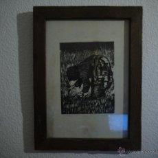 Arte: ANTONIO VALDIVIESO(1918-2000) LITOGRAFIA, TITULO-SEGANDO,AÑO 1961, FIRMADA Y NUMERADA.. Lote 149005216