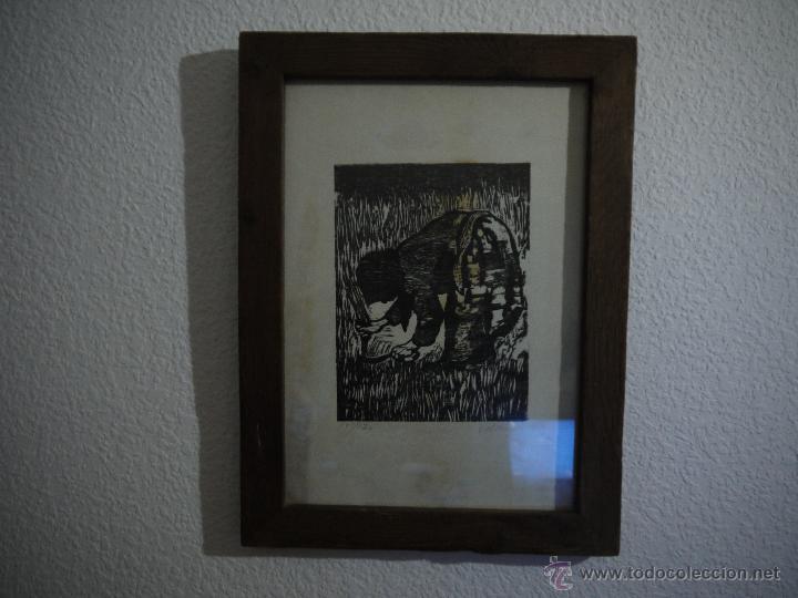 Arte: ANTONIO VALDIVIESO(1918-2000) LITOGRAFIA, TITULO-SEGANDO,AÑO 1961, FIRMADA Y NUMERADA. - Foto 2 - 149005216