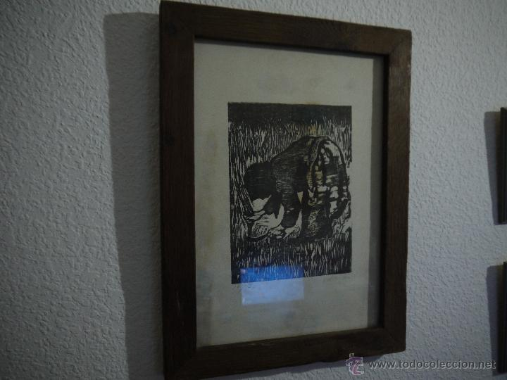 Arte: ANTONIO VALDIVIESO(1918-2000) LITOGRAFIA, TITULO-SEGANDO,AÑO 1961, FIRMADA Y NUMERADA. - Foto 3 - 149005216