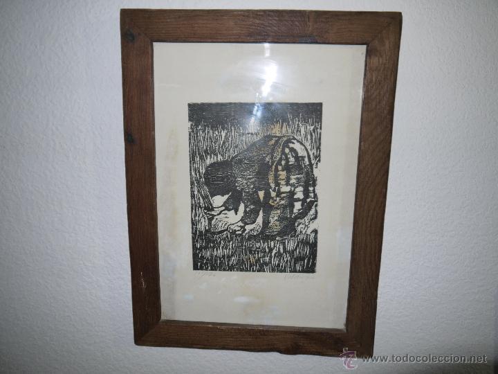 Arte: ANTONIO VALDIVIESO(1918-2000) LITOGRAFIA, TITULO-SEGANDO,AÑO 1961, FIRMADA Y NUMERADA. - Foto 4 - 149005216