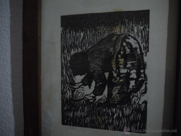 Arte: ANTONIO VALDIVIESO(1918-2000) LITOGRAFIA, TITULO-SEGANDO,AÑO 1961, FIRMADA Y NUMERADA. - Foto 5 - 149005216