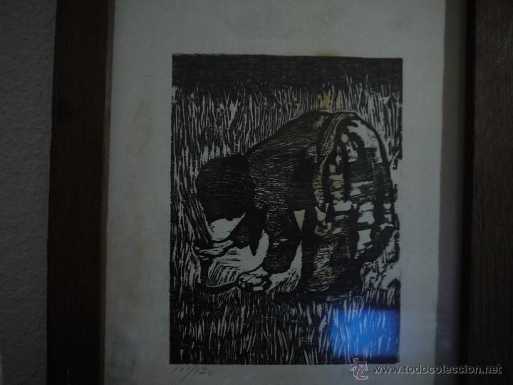Arte: ANTONIO VALDIVIESO(1918-2000) LITOGRAFIA, TITULO-SEGANDO,AÑO 1961, FIRMADA Y NUMERADA. - Foto 6 - 149005216