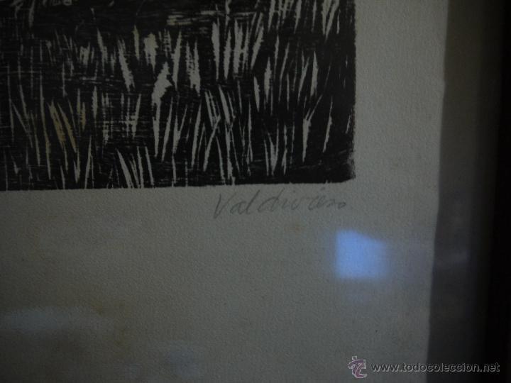 Arte: ANTONIO VALDIVIESO(1918-2000) LITOGRAFIA, TITULO-SEGANDO,AÑO 1961, FIRMADA Y NUMERADA. - Foto 7 - 149005216