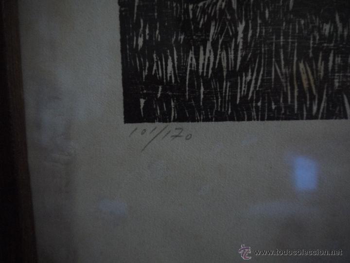 Arte: ANTONIO VALDIVIESO(1918-2000) LITOGRAFIA, TITULO-SEGANDO,AÑO 1961, FIRMADA Y NUMERADA. - Foto 8 - 149005216