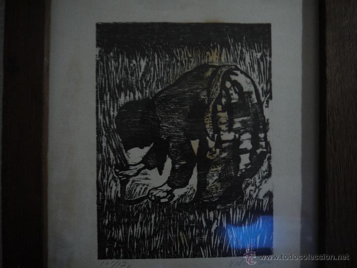 Arte: ANTONIO VALDIVIESO(1918-2000) LITOGRAFIA, TITULO-SEGANDO,AÑO 1961, FIRMADA Y NUMERADA. - Foto 10 - 149005216